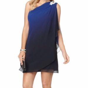 JS Boutique blue ombré cocktail dress